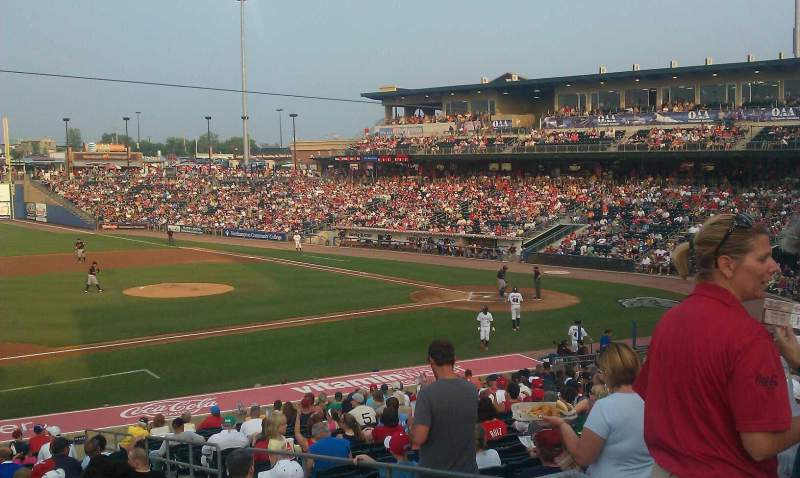 Seating view for Coca-Cola Park Section 118 Row p Seat 1