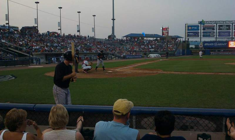 Seating view for Coca-Cola Park Section 108 Row d Seat 7