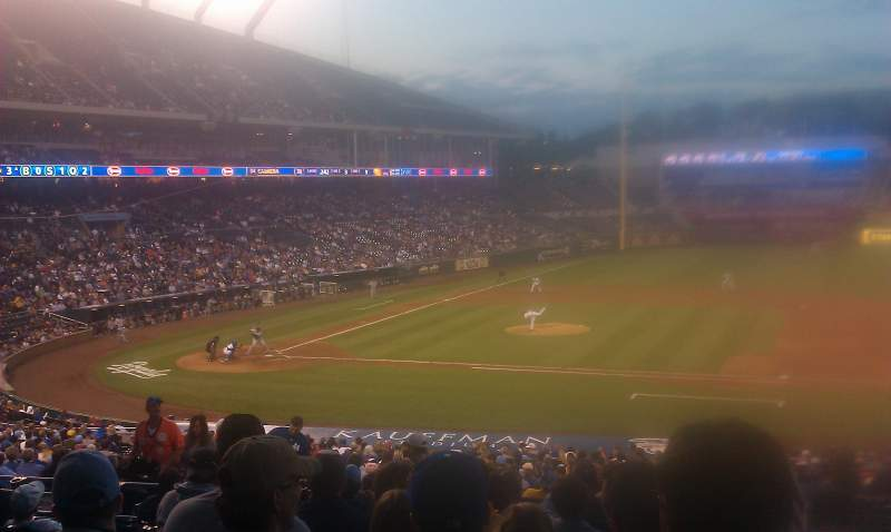 Seating view for Kauffman Stadium Section 236 Row KK Seat 1