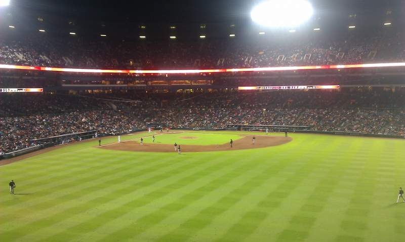Seating view for Turner Field Section Centerfield Chophouse