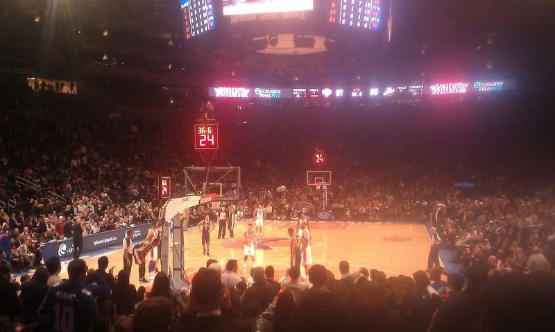 Seating view for Madison Square Garden Section 9 Row 16 Seat 1