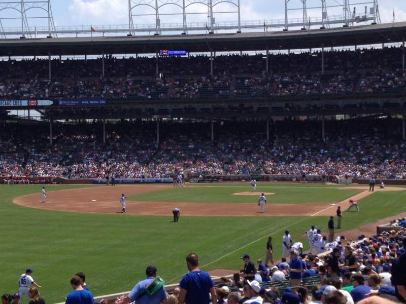 Seating view for Wrigley Field Section 201 Row 5 Seat 11