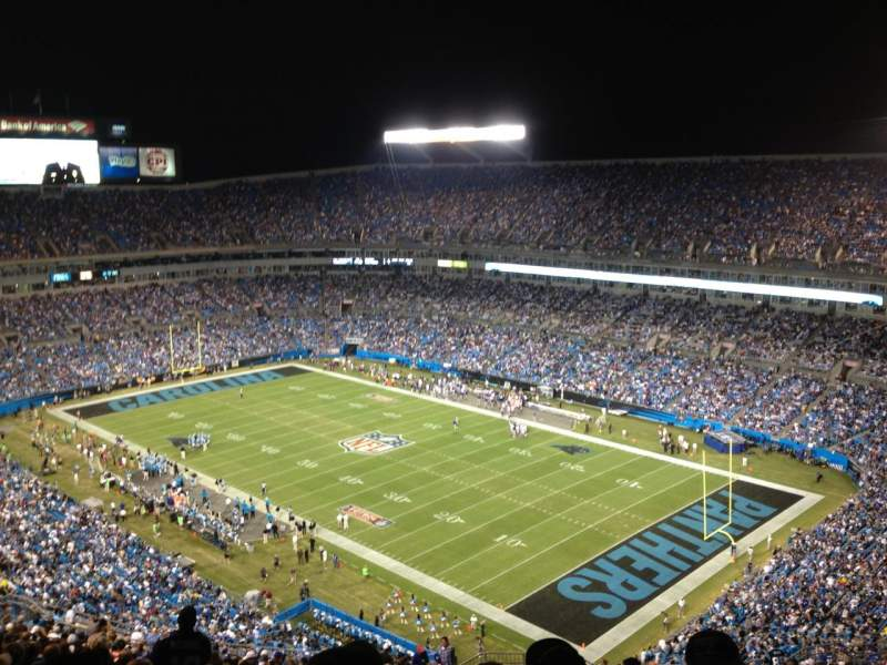 Seating view for Bank of America Stadium Section 535 Row 27 Seat 3
