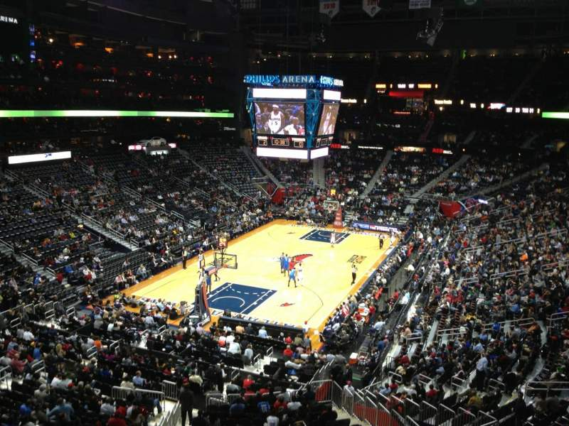 Seating view for Philips Arena Section 316 Row A Seat 14