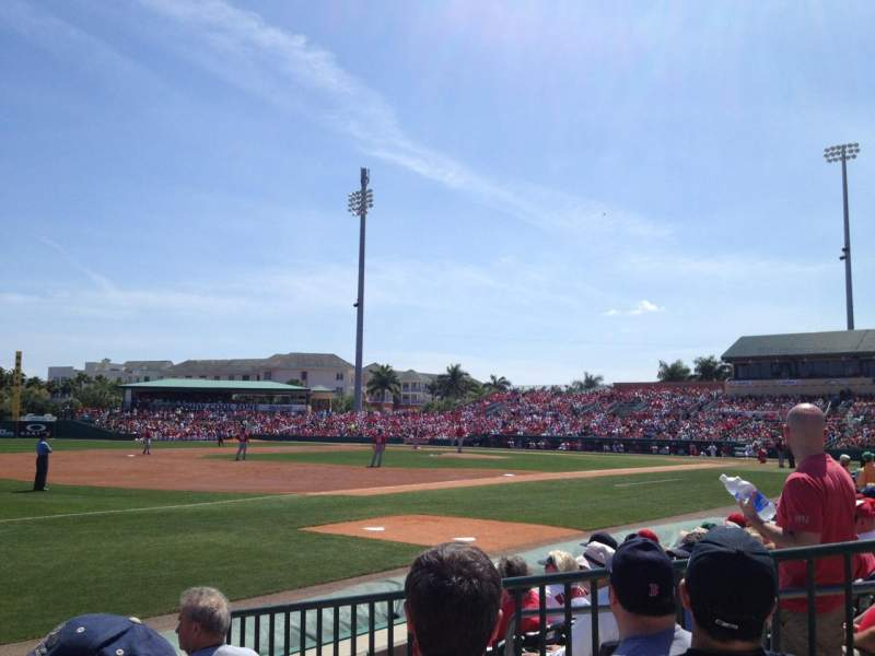 Seating view for Roger Dean Chevrolet Stadium Section SRO Row LF