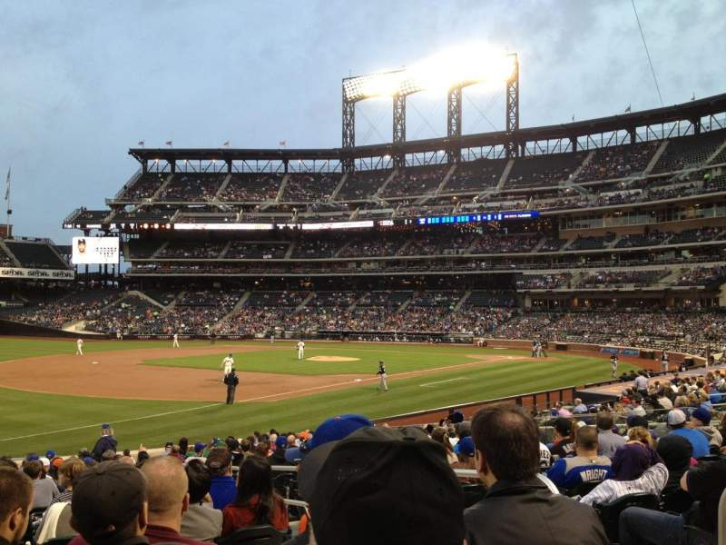 Seating view for Citi Field Section 126 Row 19 Seat 4