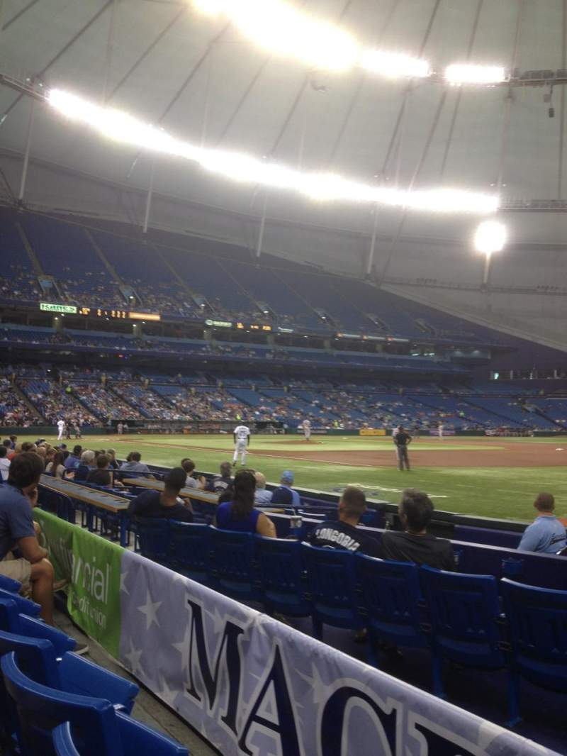 Seating view for Tropicana Field Section 128 Row H Seat 14