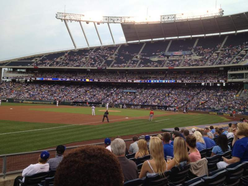 Seating view for Kauffman Stadium Section 114 Row H Seat 10