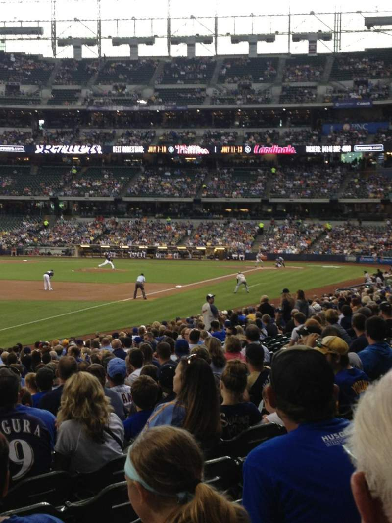 Seating view for Miller Park Section 128 Row 24 Seat 22