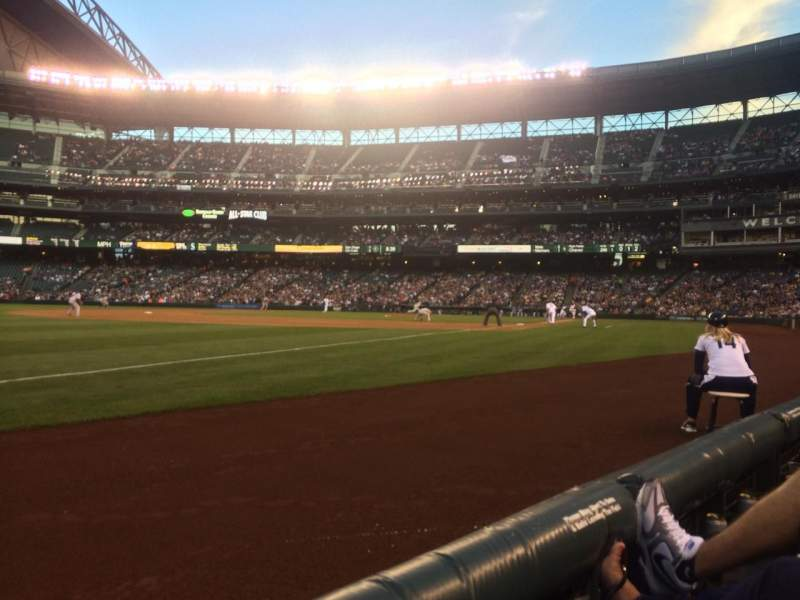 Seating view for Safeco Field Section 144 Row 1 Seat 13