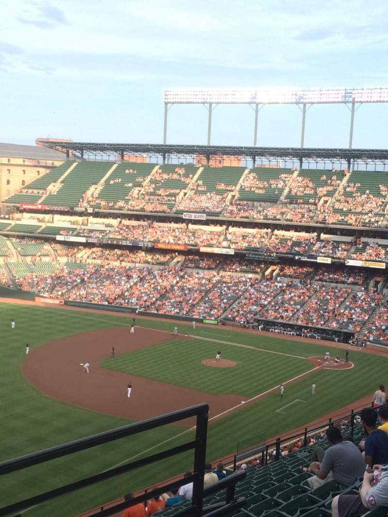 Seating view for Oriole Park at Camden Yards Section 370 Row 14 Seat 3