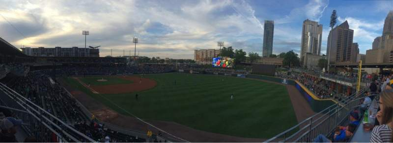 Seating view for BB&T Ballpark (Charlotte) Section Deck