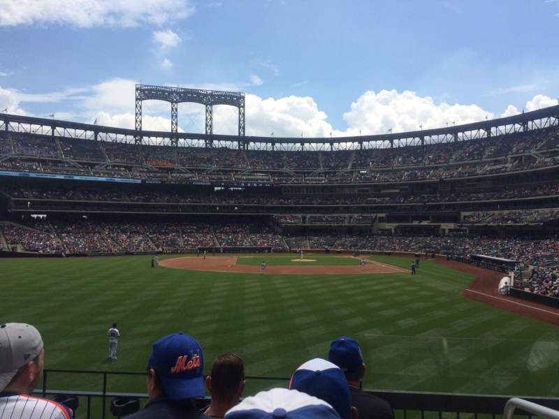 Seating view for Citi Field Section 135 Row 3 Seat 1