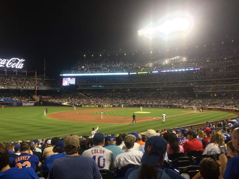 Seating view for Citi Field Section 126 Row 20 Seat 13