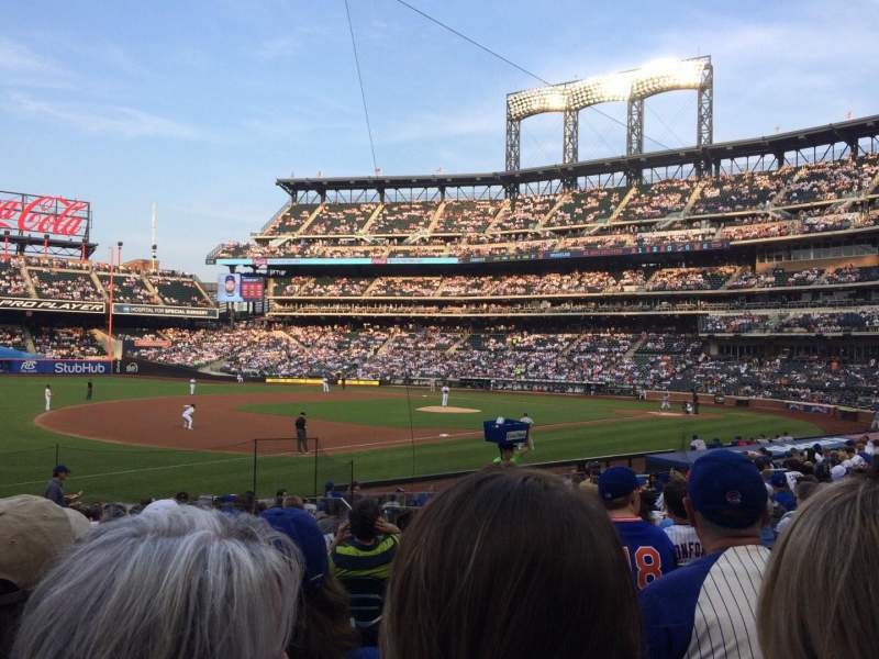 Seating view for Citi Field Section 125 Row 18 Seat 12