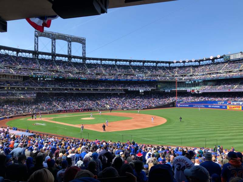 Seating view for Citi Field Section 109 Row 32 Seat 13