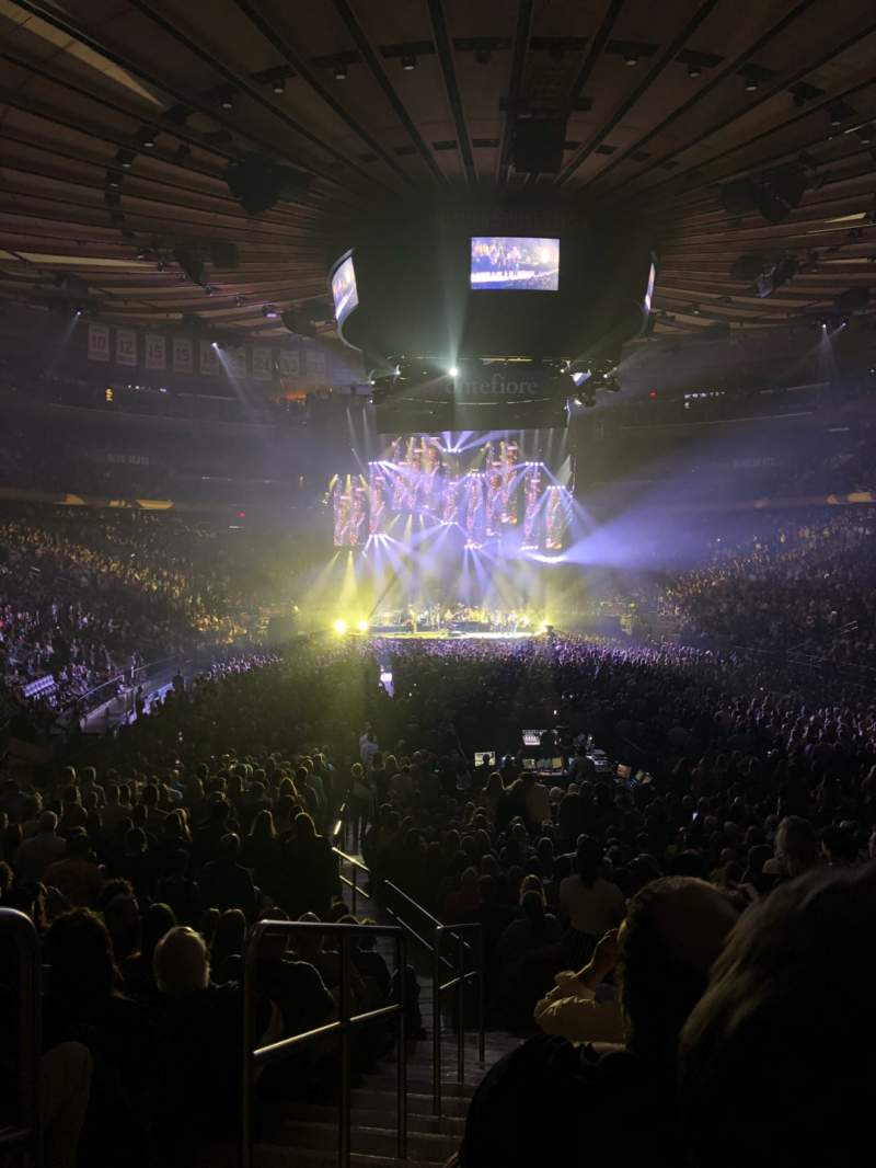 Seating view for Madison Square Garden Section 102 Row 14 Seat 1