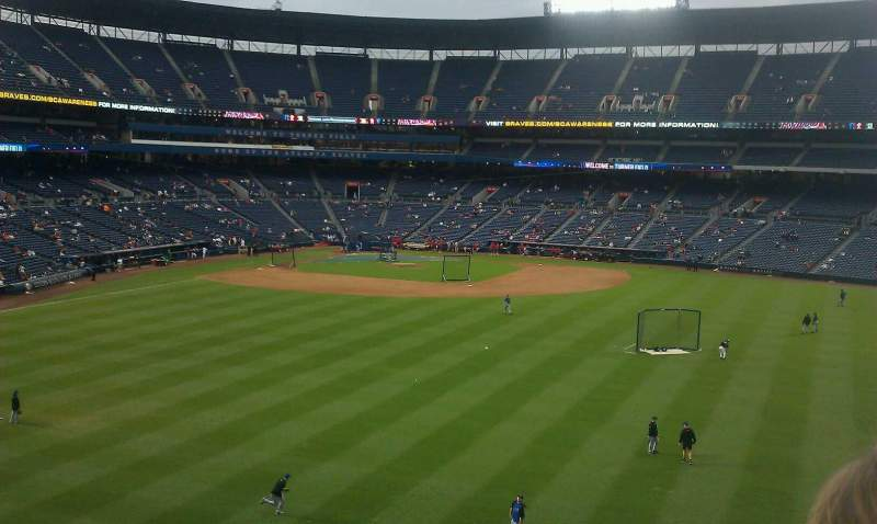 Seating view for Turner Field Section pavilion section