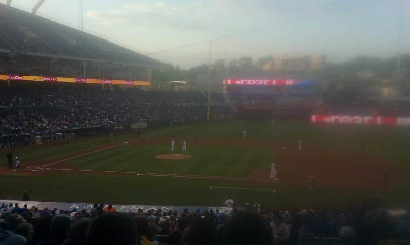 Seating view for Kauffman Stadium Section 234 Row KK Seat 23