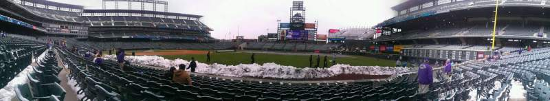 Seating view for Coors Field Section 116 Row 9 Seat 8