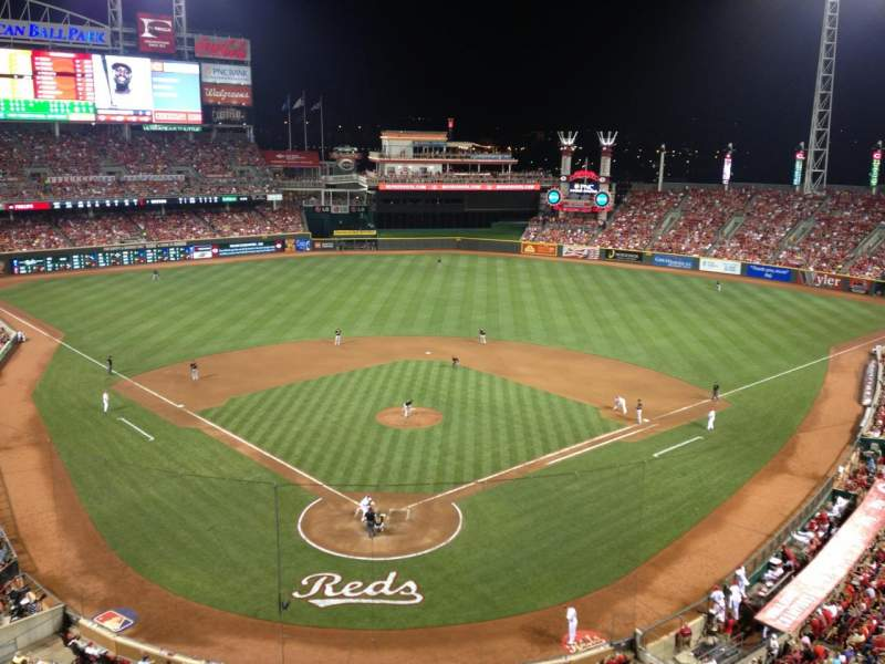Seating view for Great American Ball Park Section 424 Row B Seat 6