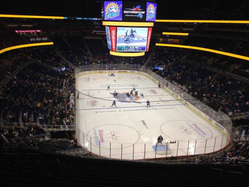 Seating view for Amway Center Section F-16