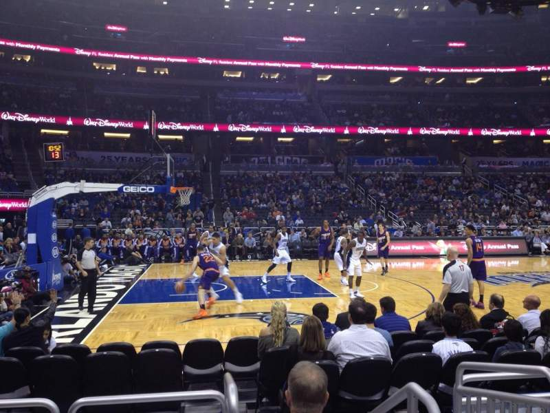Seating view for Amway Center Section 116 Row 4 Seat 1