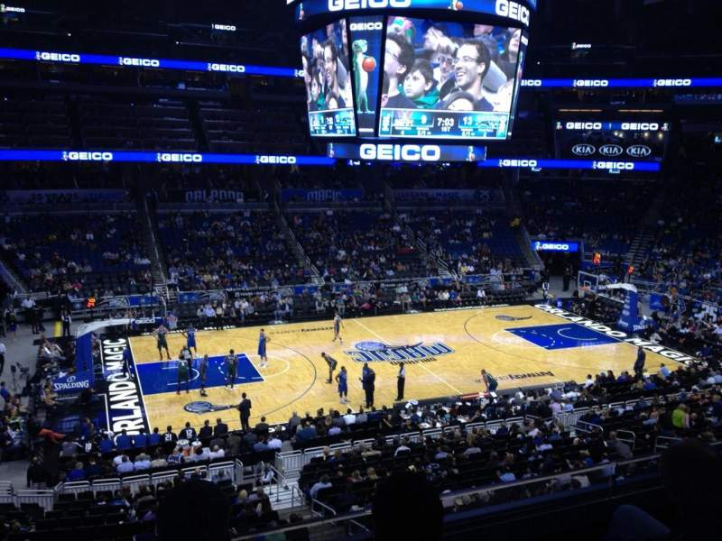 Seating view for Amway Center Section Club E Row 3 Seat 9