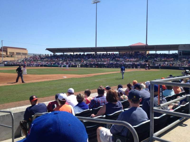 Osceola County Stadium, section: 107, row: 7, seat: 2