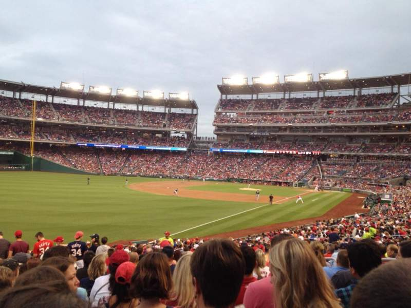 Seating view for Nationals Park Section 108 Row LL Seat 10