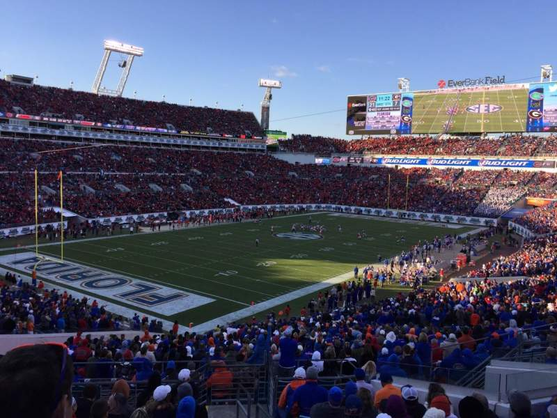 Seating view for EverBank Field Section 245 Row M Seat 16