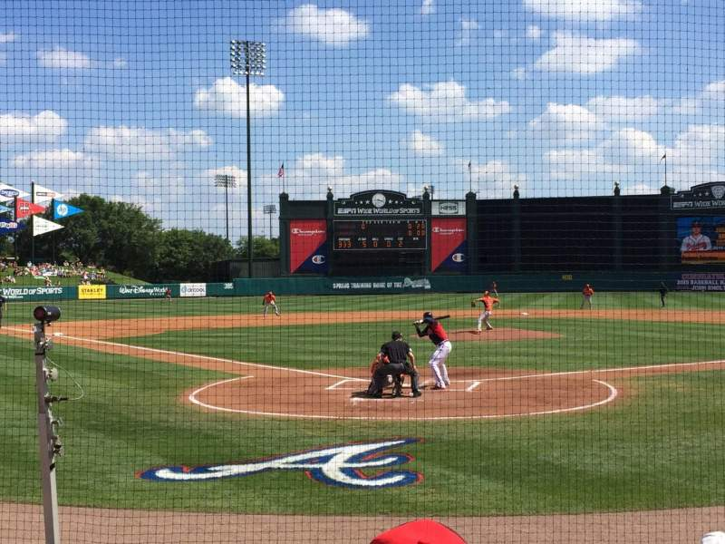 Seating view for ESPN Wide World of Sports Complex Section 112 Row G Seat 13