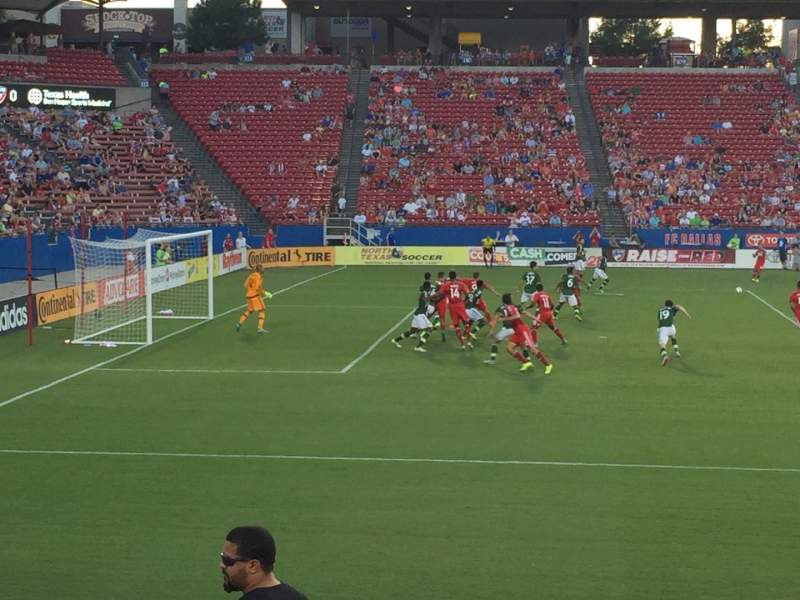 Seating view for Toyota Stadium Section 123 Row 9 Seat 24
