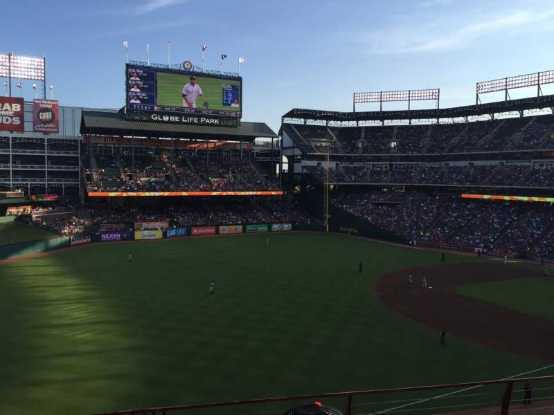 Seating view for Globe Life Park in Arlington Section 213 Row 5 Seat 7