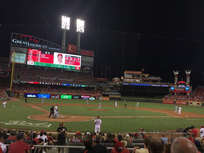 Seating view for Great American Ball Park Section 25 Row G Seat 12
