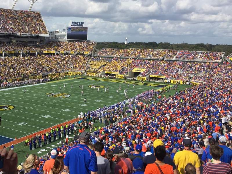 Seating view for Camping World Stadium Section 116 Row V Seat 8