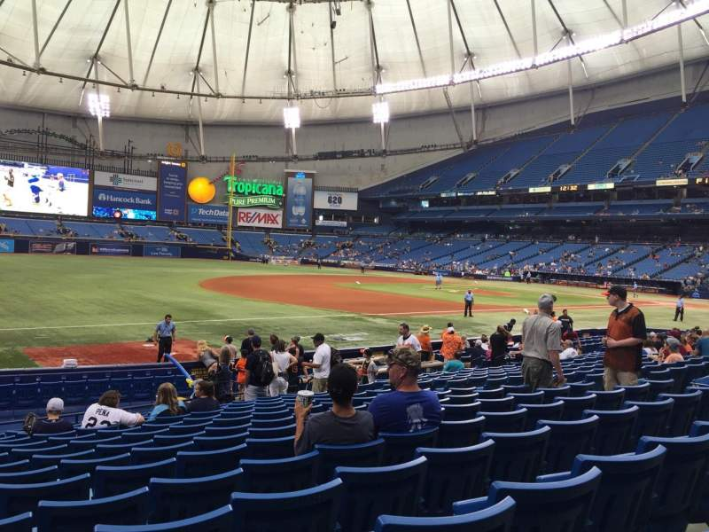 Seating view for Tropicana Field Section 127 Row U Seat 10