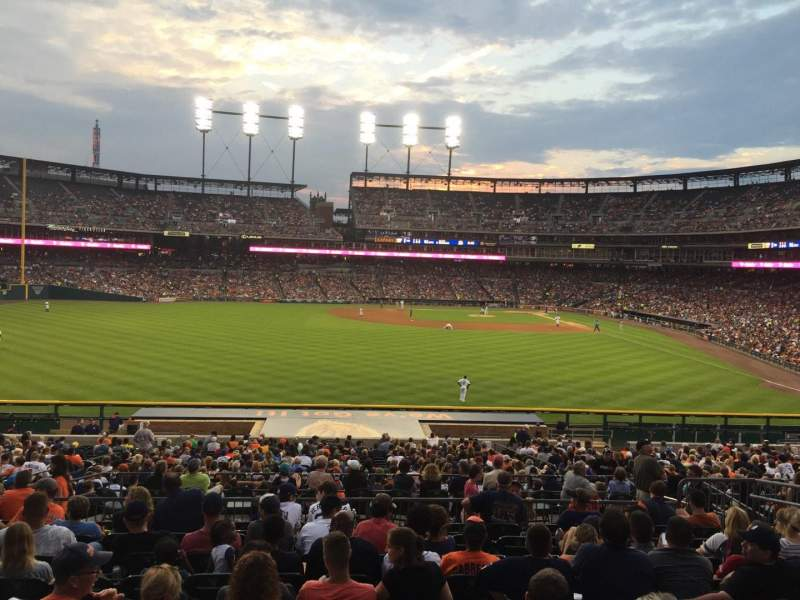 Seating view for Comerica Park Section 149 Row LL Seat 12