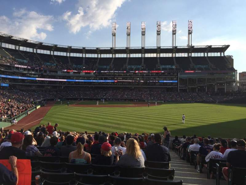 Seating view for Progressive Field Section 113 Row U Seat 1