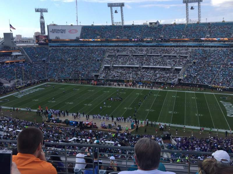 Seating view for TIAA Bank Field Section 434 Row J Seat 7