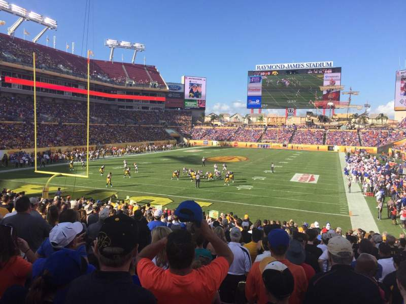 Seating view for Raymond James Stadium Section 125 Row AA Seat 6