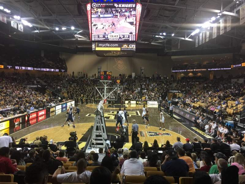 Seating view for CFE Arena Section 102 Row M Seat 7