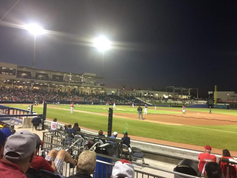 Seating view for FITTEAM Ballpark of the Palm Beaches Section 117 Row J Seat 12