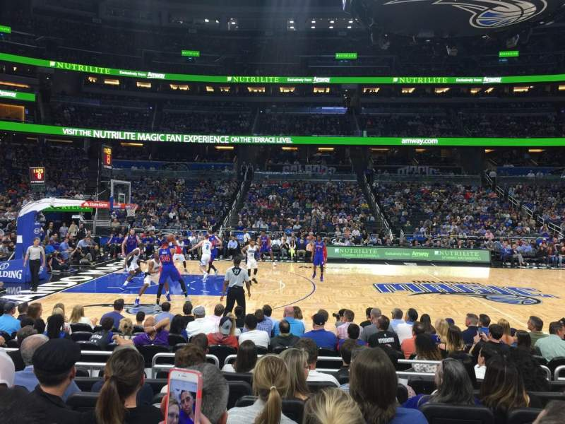 Seating view for Amway Center Section 115 Row 7 Seat 9