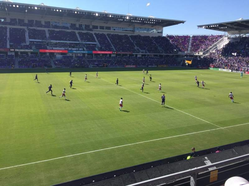 Seating view for Exploria Stadium Section 135 Row 2 Seat 22