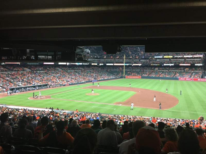 Seating view for Oriole Park at Camden Yards Section 17 Row 11 Seat 8