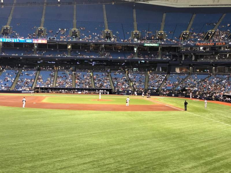 Seating view for Tropicana Field Section 143 Row AA Seat 18
