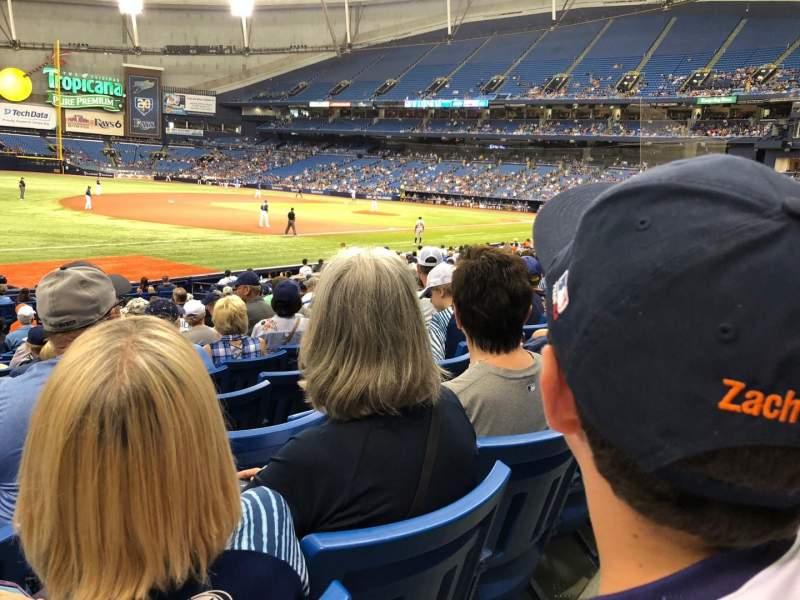 Tropicana Field, section: 127, row: V, seat: 1