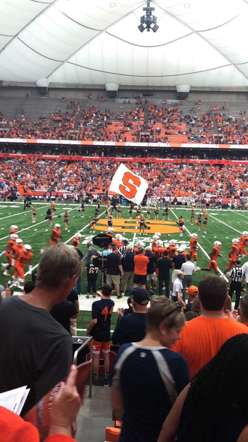 Seating view for Carrier Dome Section 101 Row J Seat 110