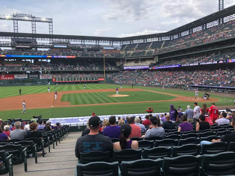 Seating view for Coors Field Section 138 Row 23 Seat 11